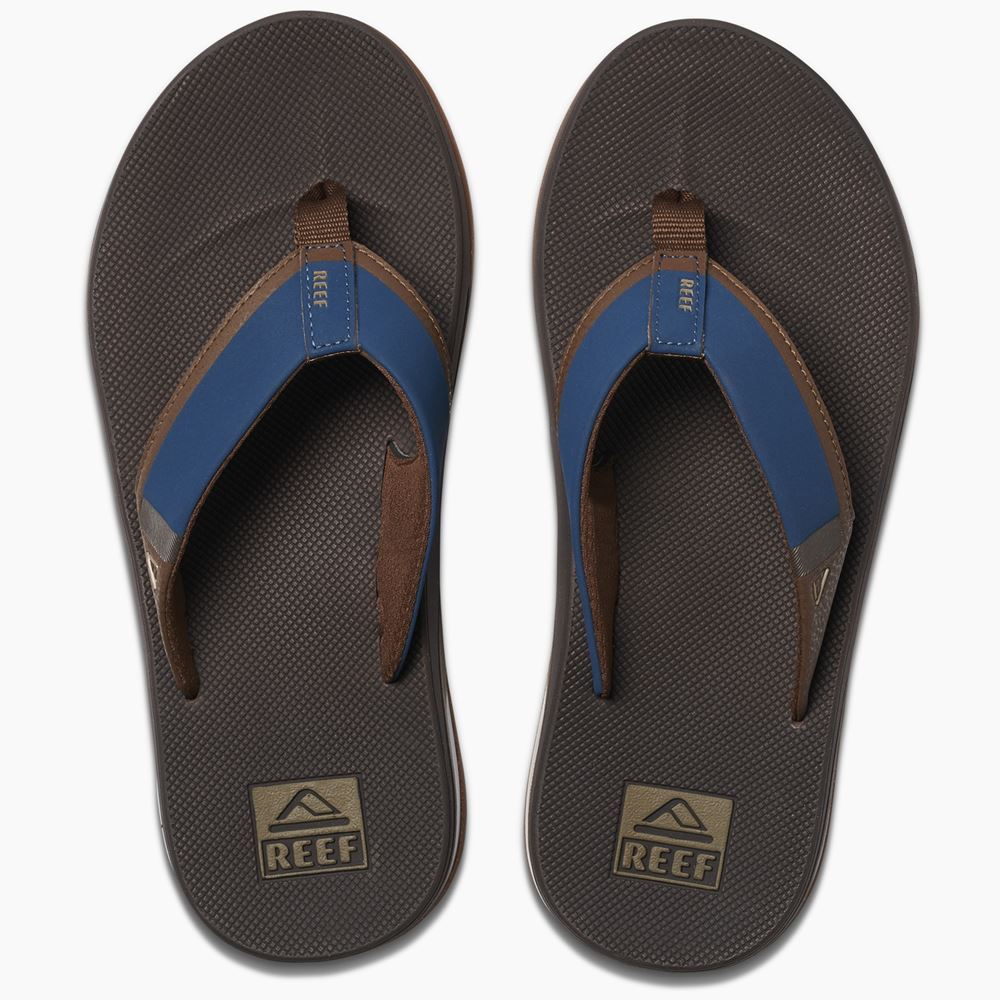 e0e12dc4efb717 Details about Reef Mens Sandals With Bottle Opener ~ Fanning Low navy brown