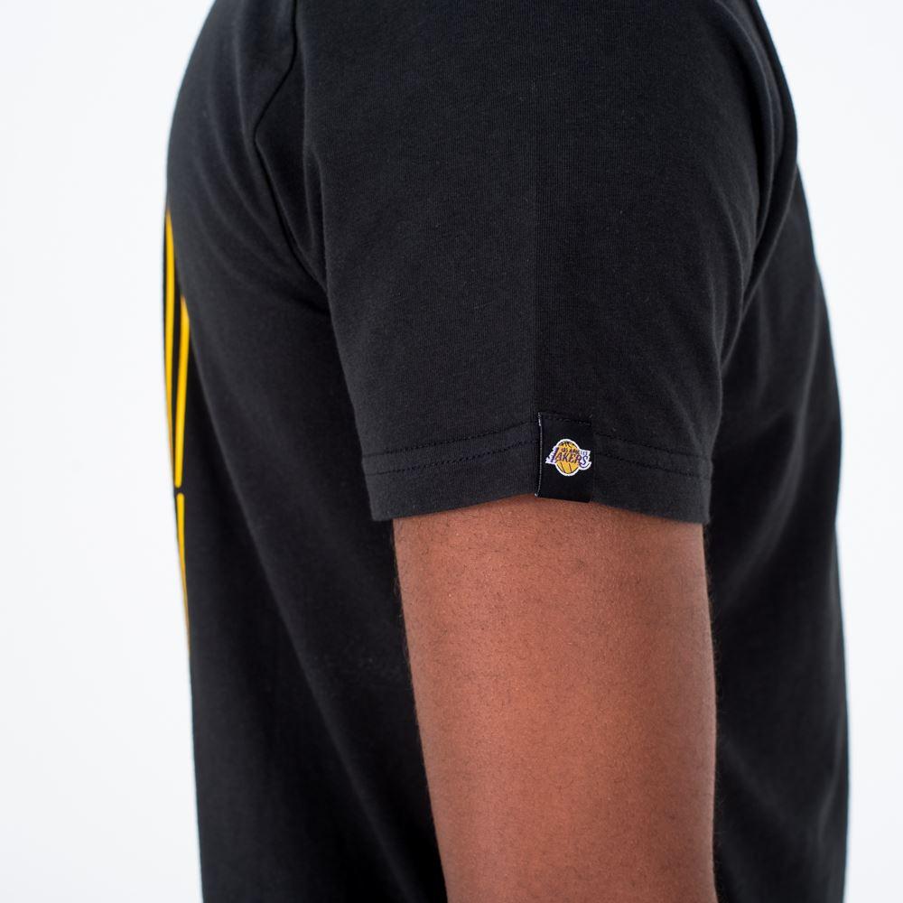 NBA Los Angeles Lakers New Era Neon Lights T Shirt Mens