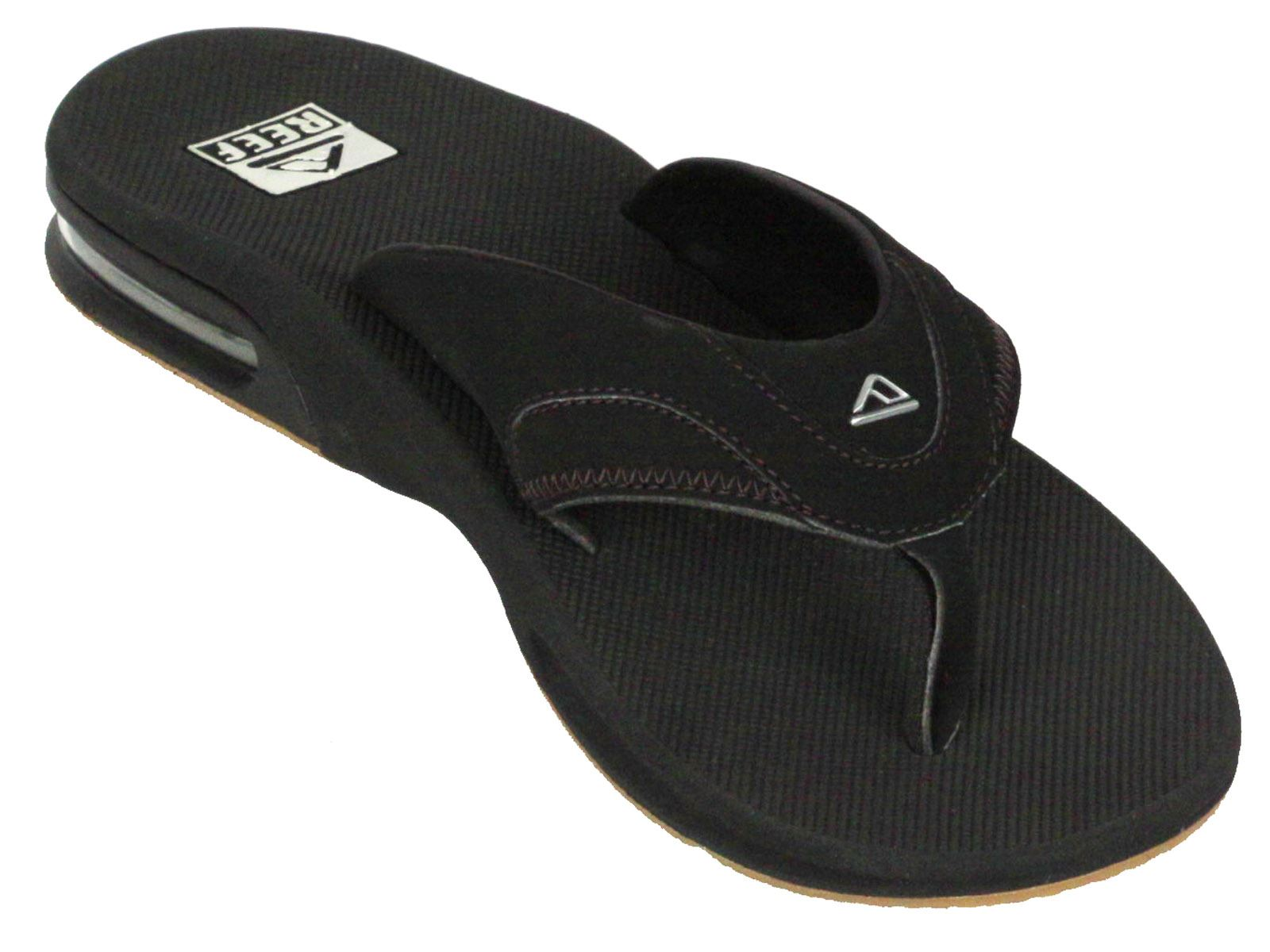 6f326dc50f6f Reef Water Friendly Mens Sandals with Bottle Opener ~ Fanning black ...