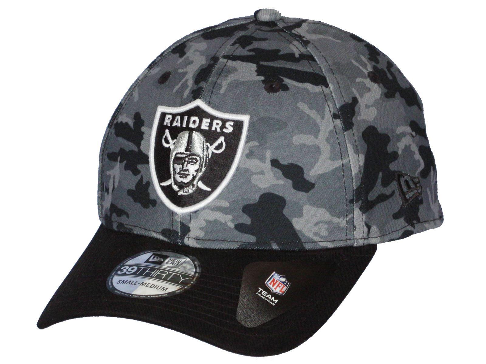 New Era Camo Team Stretch 39Thirty Curve Cap ~ Oakland Raiders  d74cf0fac