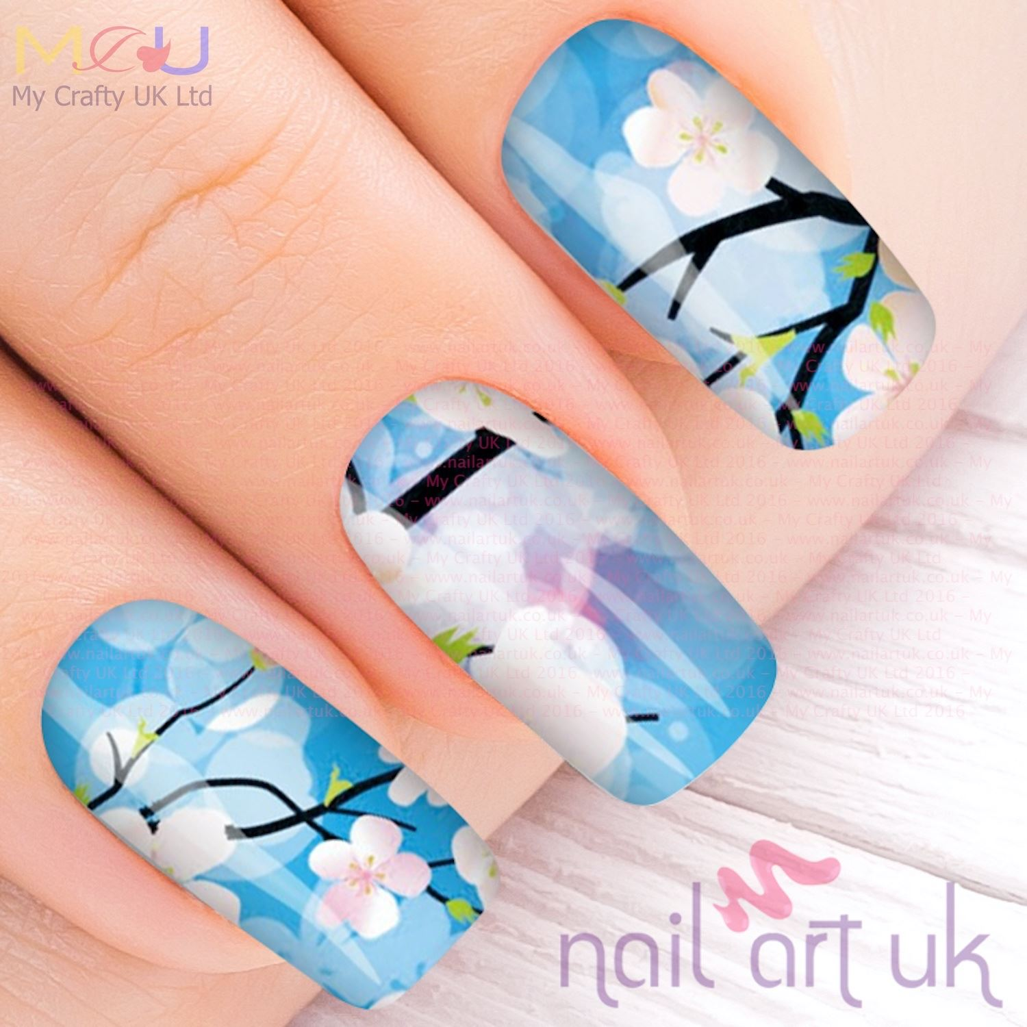Vivid Blue Orchid Water Decal Nail Art Stickers, Decals, Tattoos ...
