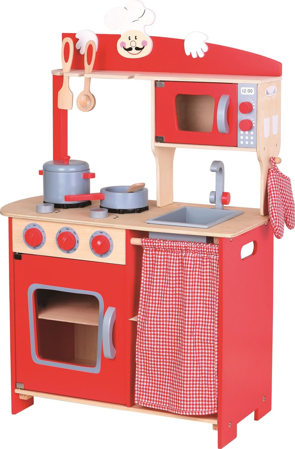 LELIN WOODEN WOOD CHILDRENS KIDS PRETEND PLAY SAFFRON KITCHEN ...