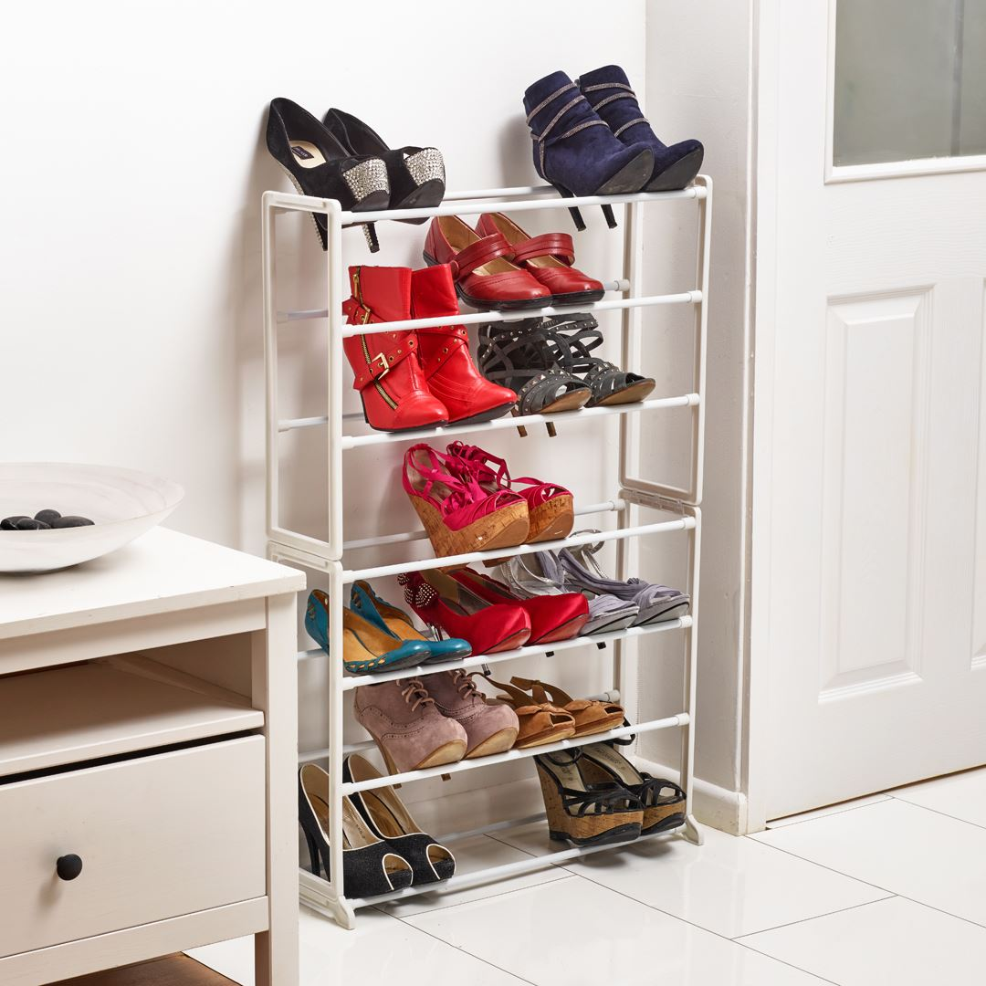 Vinsani-7-Tier-Shoe-Rack-Organiser-Shelves-Stand-  sc 1 st  eBay & Vinsani 7 Tier Shoe Rack Organiser Shelves Stand Storage 21 Pairs ...
