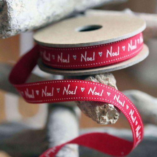 3 Meter East Of India /'Noel/' Red Grosgrain Ribbon Roll Xmas Christmas Craft