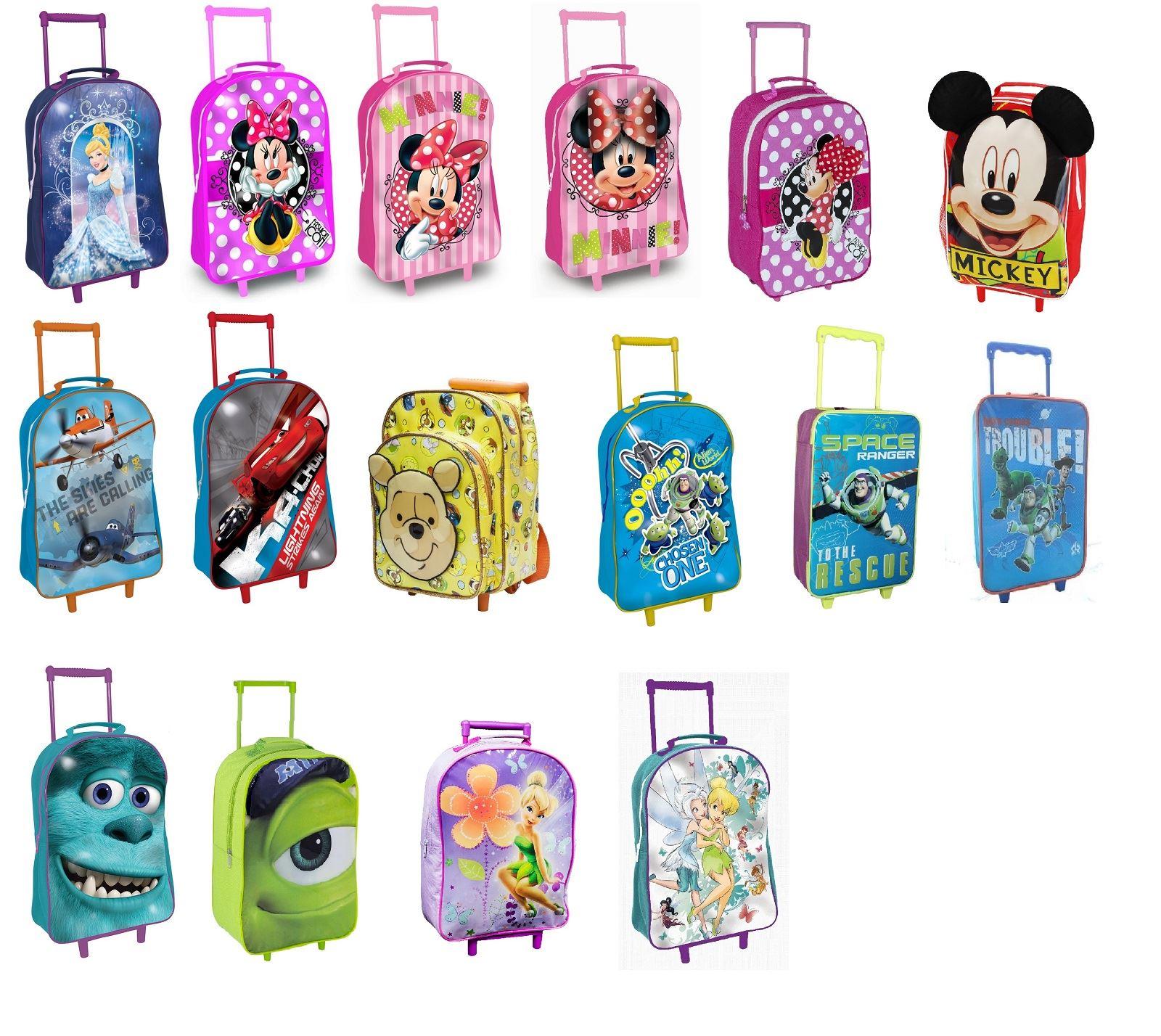 758ca7ae0b58 Sentinel Disney Theme Character Childrens Kid Junior PVC Trolley Wheel  Travel School Bag
