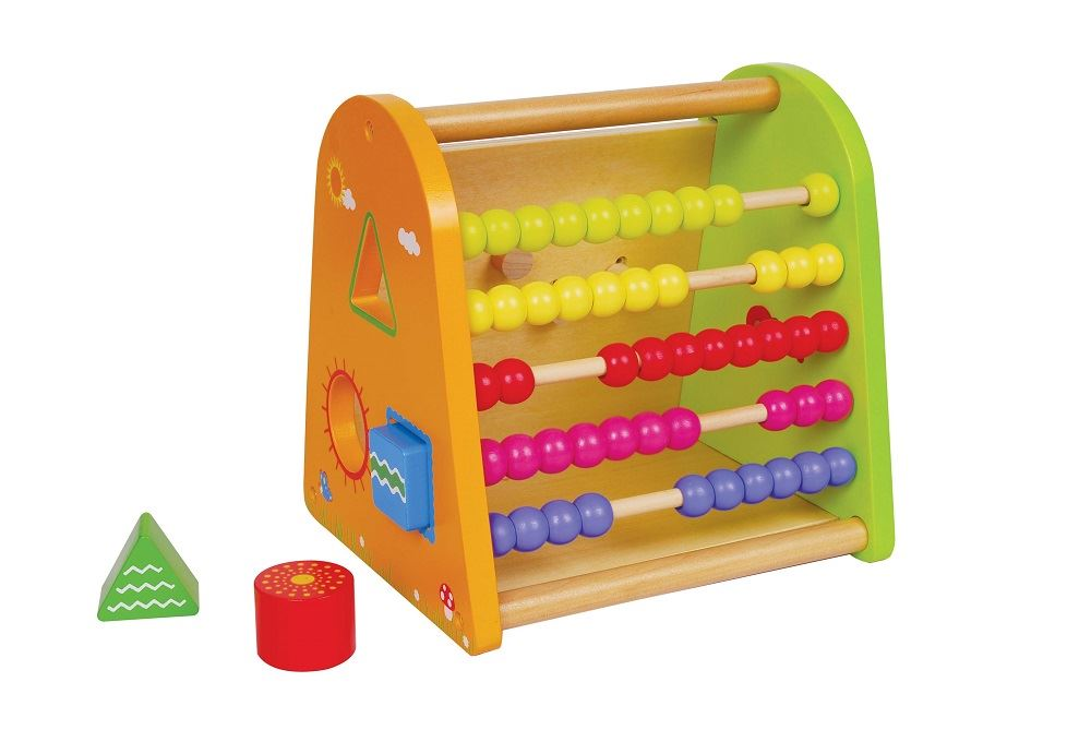 Lelin Wooden 4 In 1 Spring Time Childrens Abacus Shape
