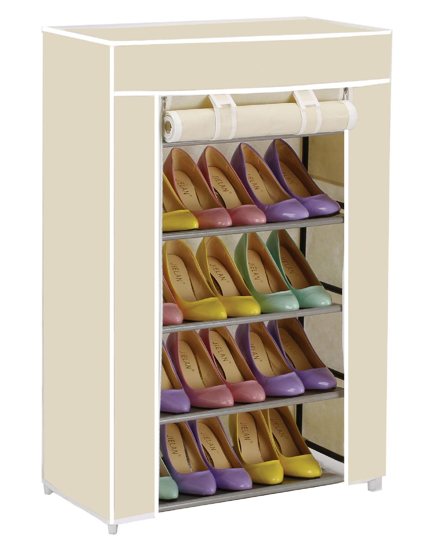 Vinsani 5 nivel Organizador De Lona Zapato Rack Rack sostiene hasta 15 Pares