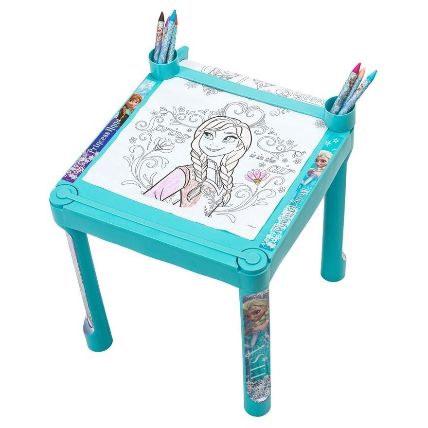 Kids Character Colouring Table Jumbo Crayons Markers Amp