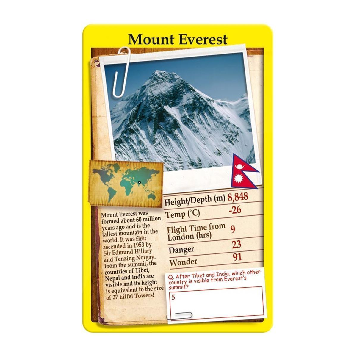 Wonders of the World Top Trumps Card Game