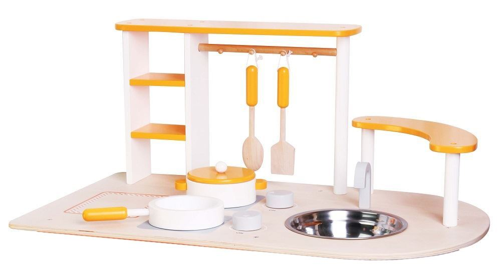 LELIN-WOODEN-WOOD-CHILDRENS-KIDS-PRETEND-PLAY-SAFFRON-KITCHEN-COOKING-OVEN-TOY thumbnail 16