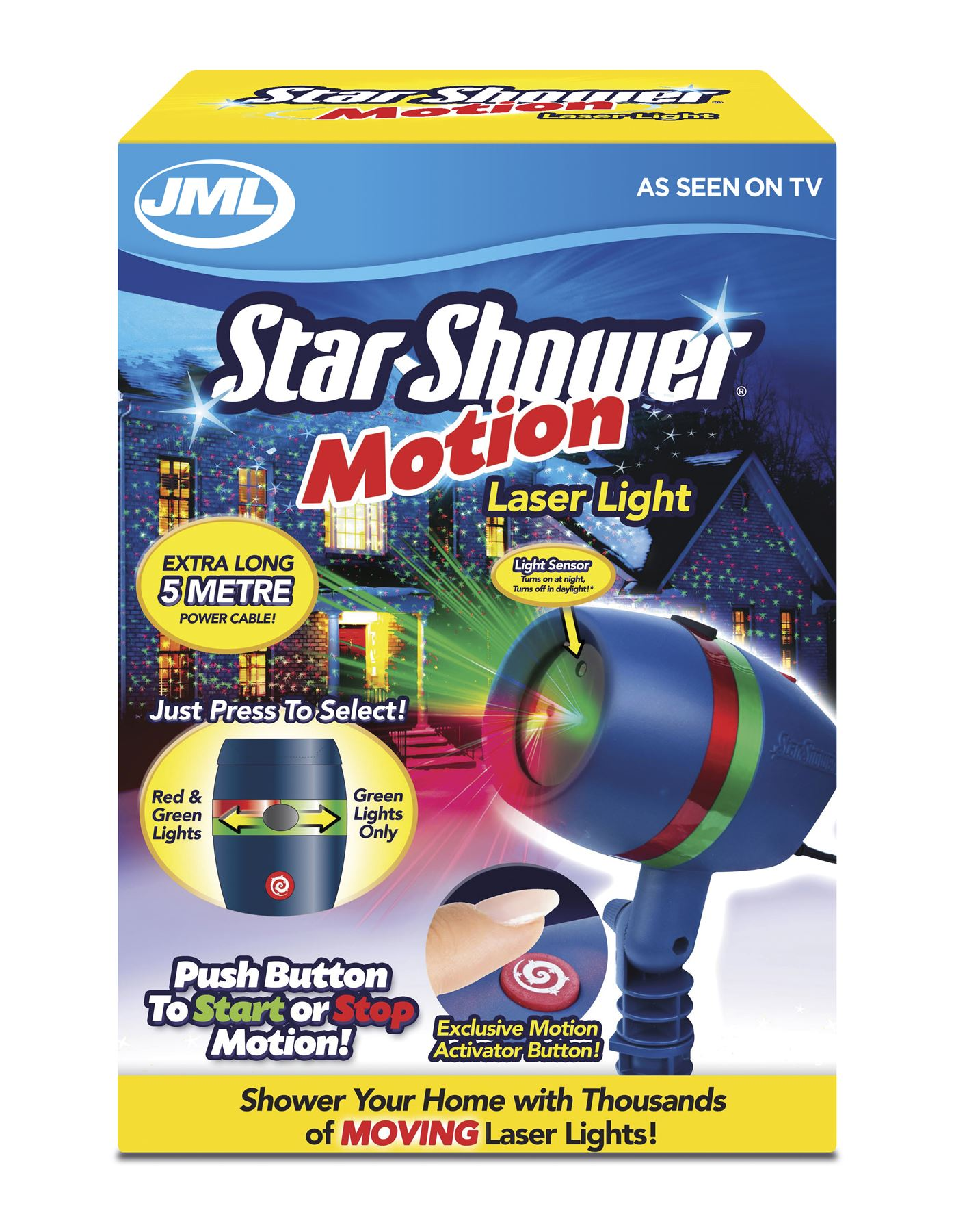 Jml star shower motion led landscape moving light projector system 5m cable ebay for Star shower motion m6