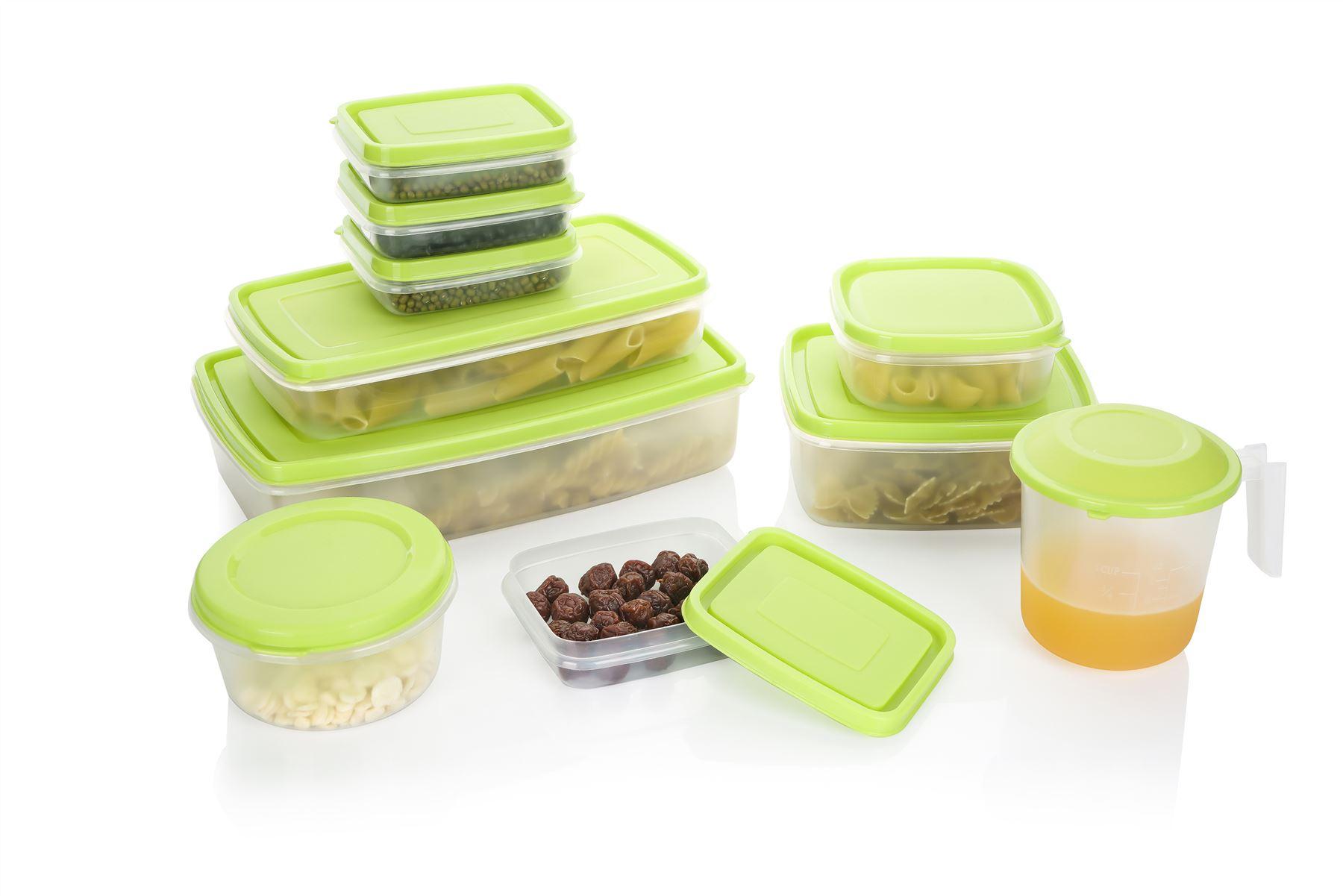 Attractive Freezer Safe Storage Containers Part - 7: Sentinel Vinsani 20pcs Microwave Food Storage Container Set - Dishwasher U0026 Freezer  Safe