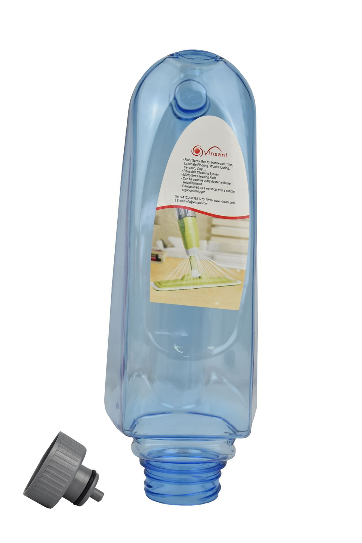 Vinsani Red Floor Spray Mop Water Spraying Floor Cleaner Refillable Bottle Suita