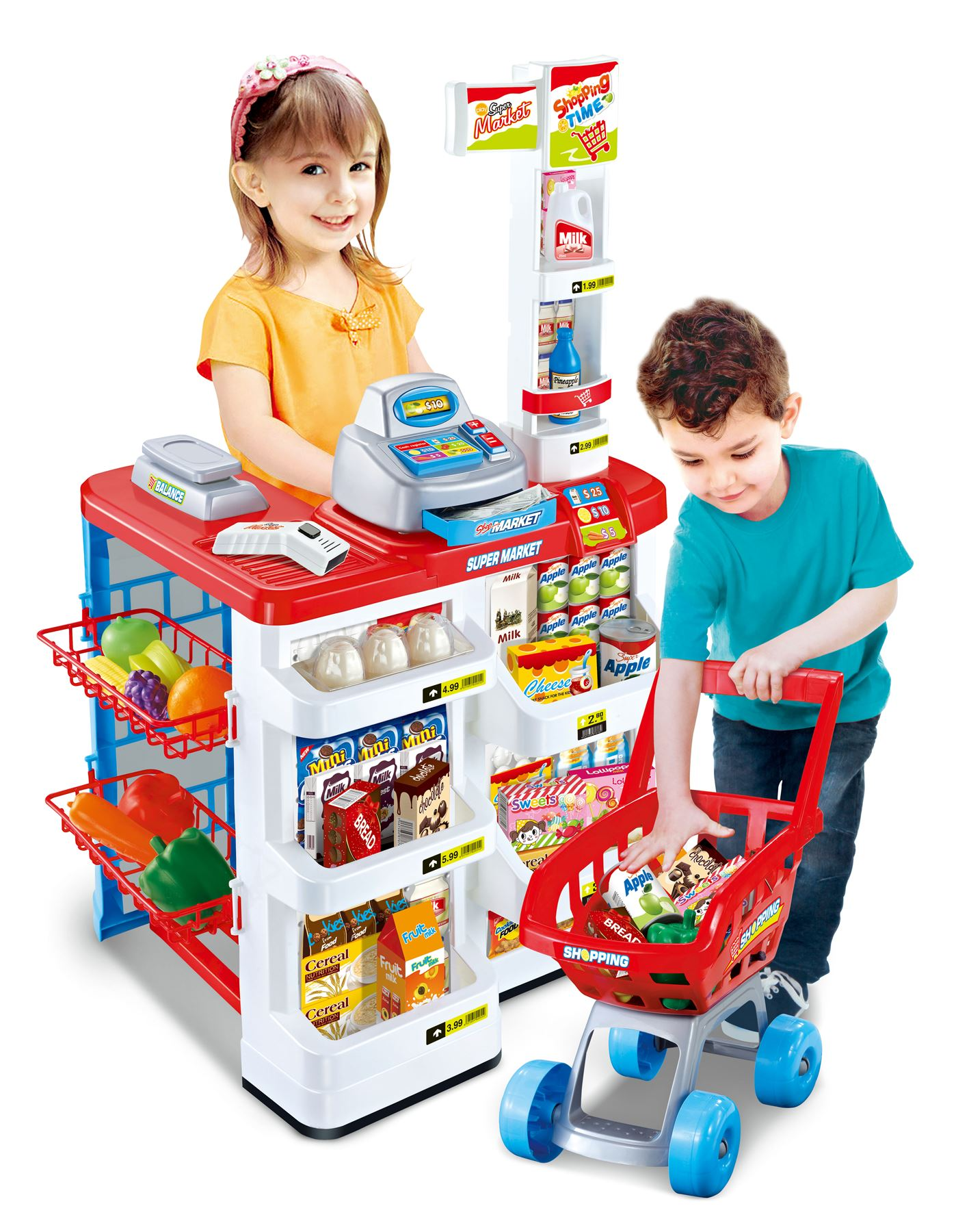 Toys For Kids : Children kids role pretend play supermarket superstore