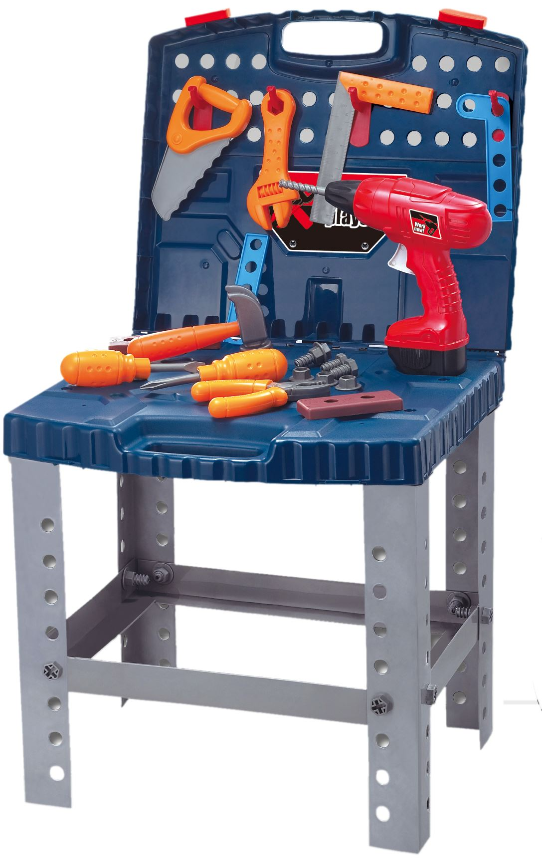 Details About Vinsani Super Tool Kids Boys Work Bench Diy Building Tools Pretend Play Toy