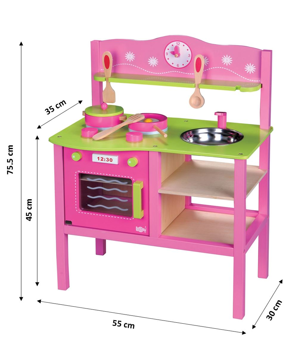 LELIN-WOODEN-WOOD-CHILDRENS-KIDS-PRETEND-PLAY-SAFFRON-KITCHEN-COOKING-OVEN-TOY thumbnail 13