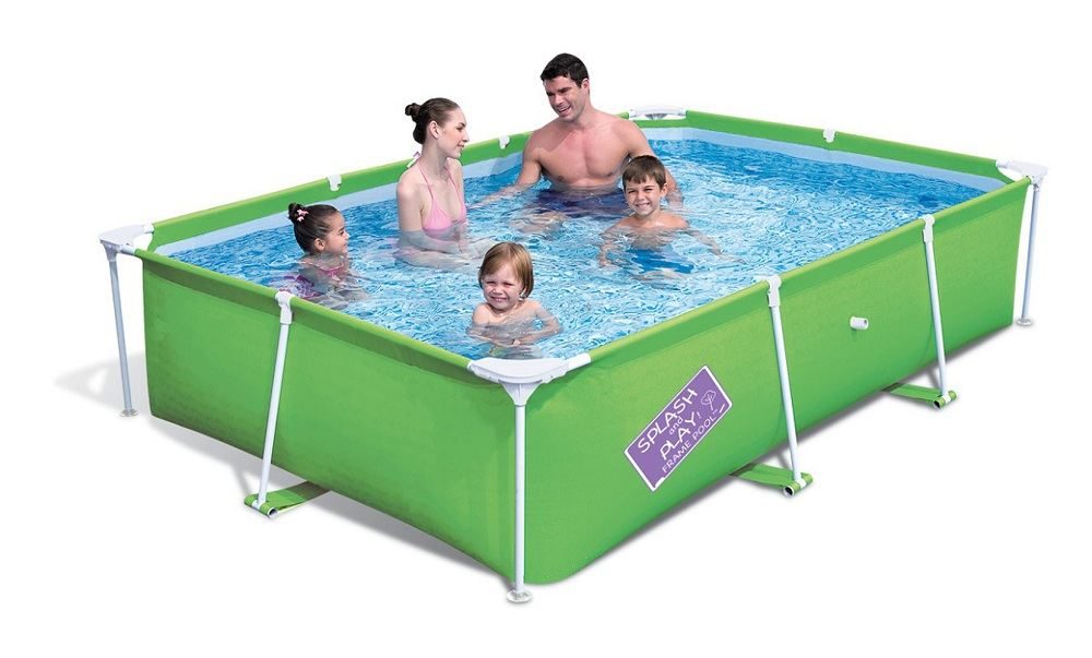 Bestway my first frame orange swimming pool family garden for Garden paddling pools