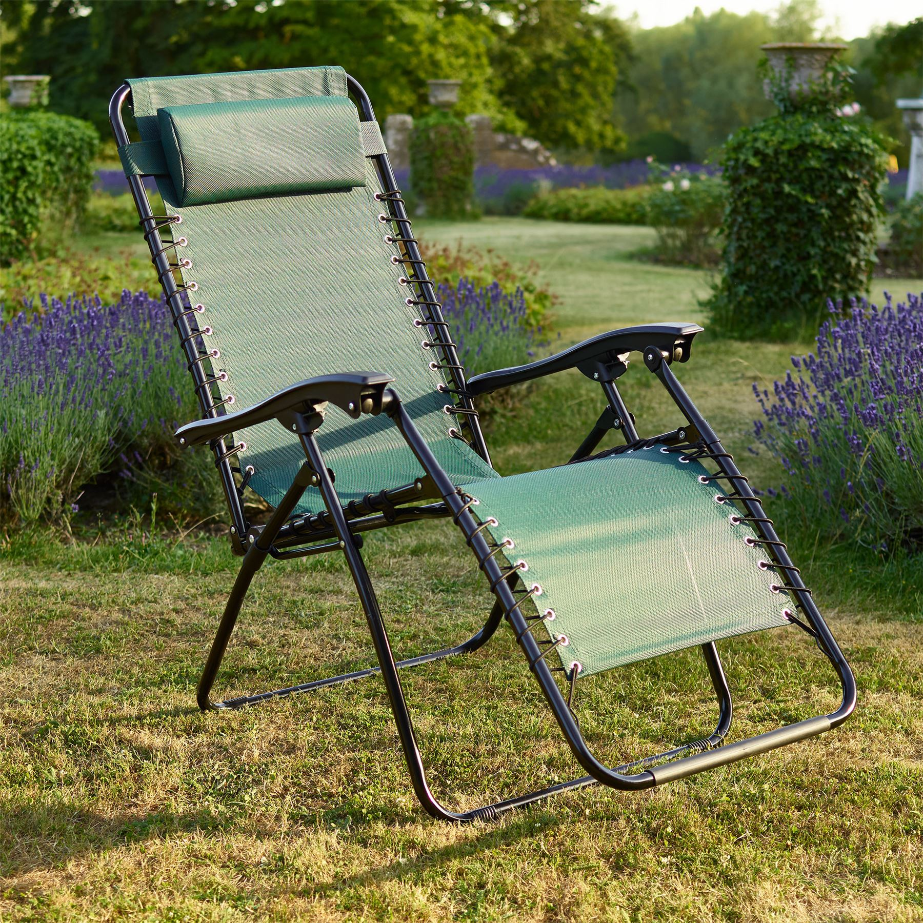 vinsani textoline gravity reclining garden chairs in various