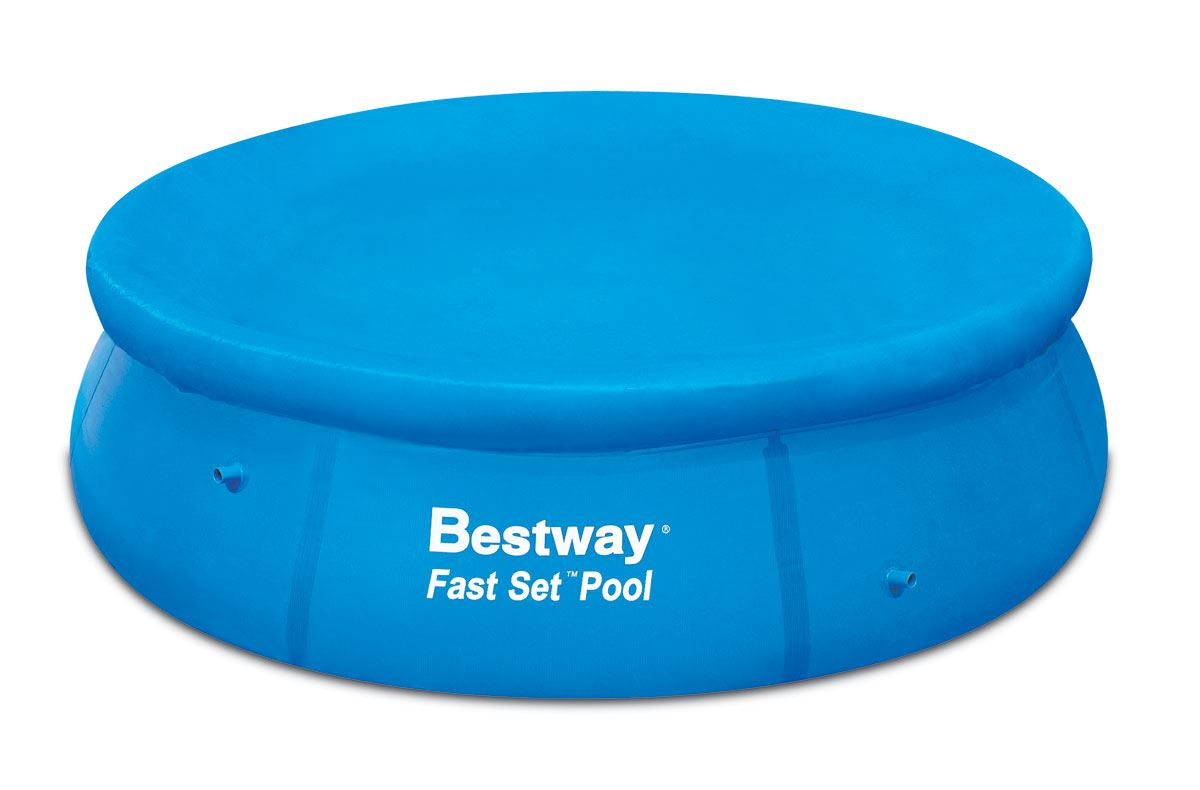 bestway 12 inch fast set pool cover ebay. Black Bedroom Furniture Sets. Home Design Ideas