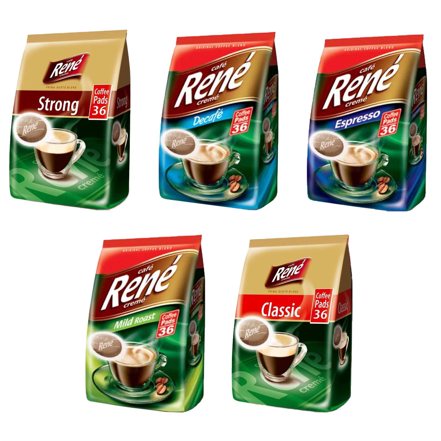 Details About Philips Senseo Luxury Cafe Rene Creme Range Coffee Pads Pods Bag 252 G