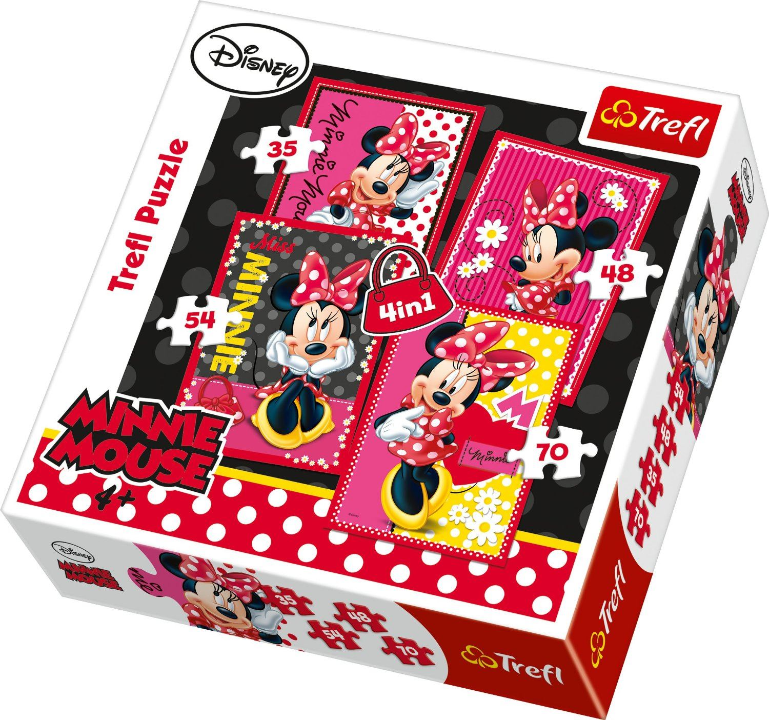 trefl 4 in 1 puzzle set off an a journey disney jigsaw puzzle ebay