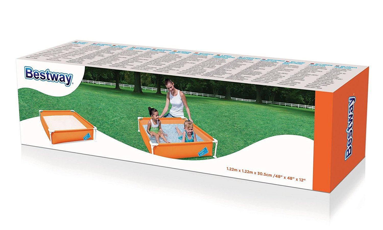 bestway my first frame orange swimming pool family garden outdoor paddling pool ebay