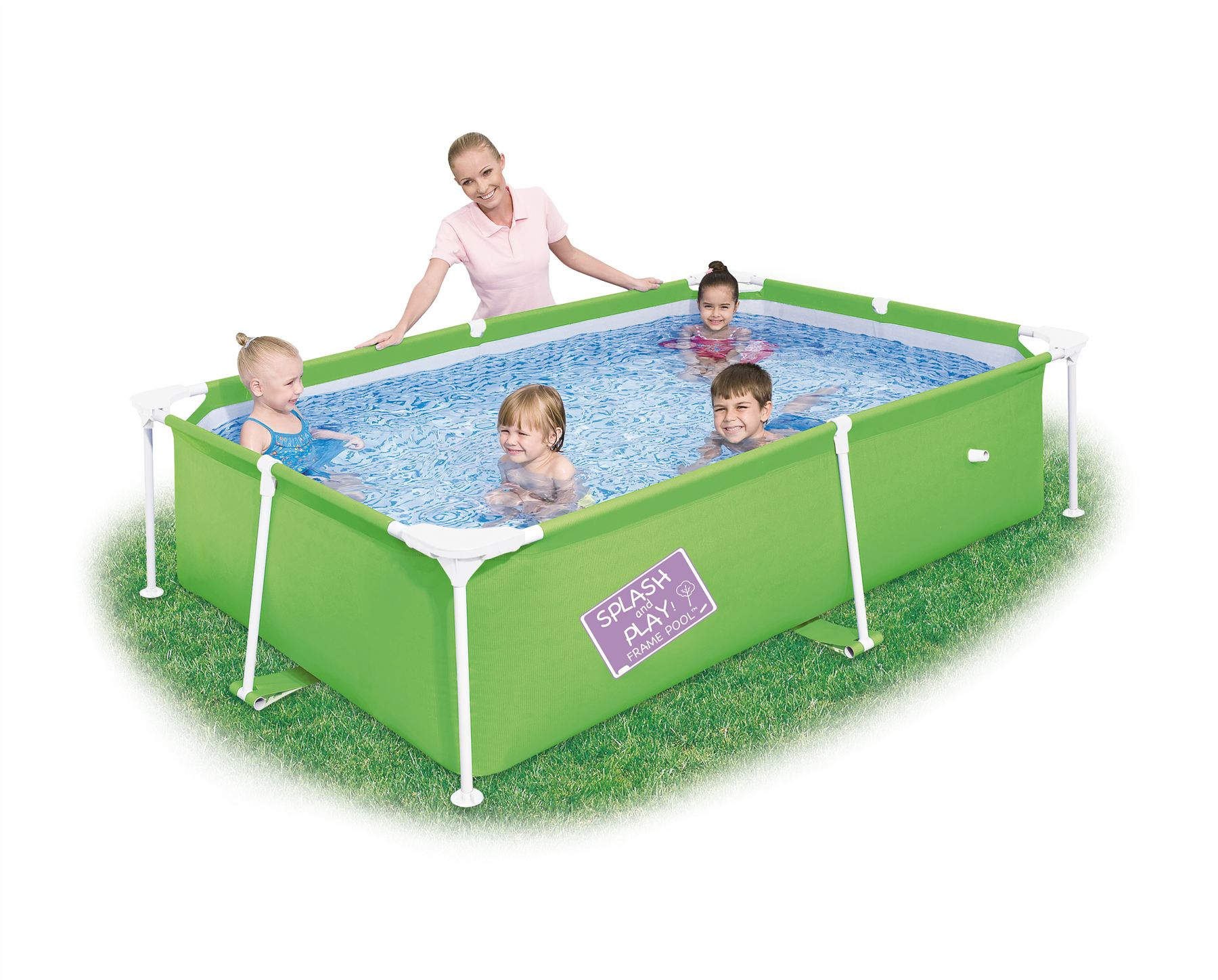 Bestway my first frame orange swimming pool family garden for Garden pools uk
