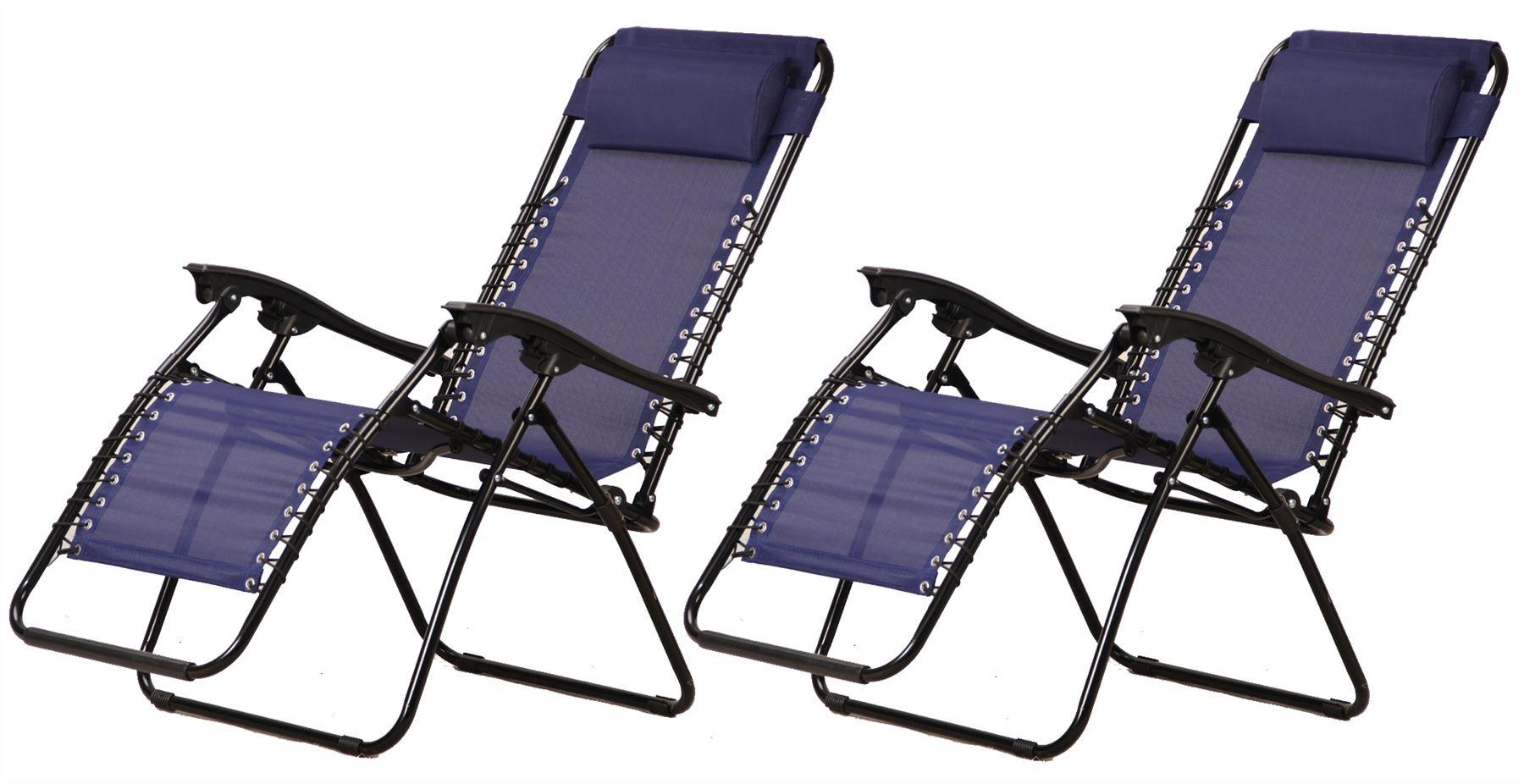 Set-of-2-Vinsani-Textoline-Gravity-Reclining-Garden-  sc 1 st  eBay & Set of 2 - Vinsani Textoline Gravity Reclining Garden Chairs In ... islam-shia.org