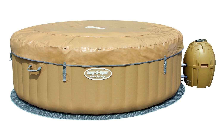 Bestway pool lay z spa palm springs inflatable portable for Bestway portable pool