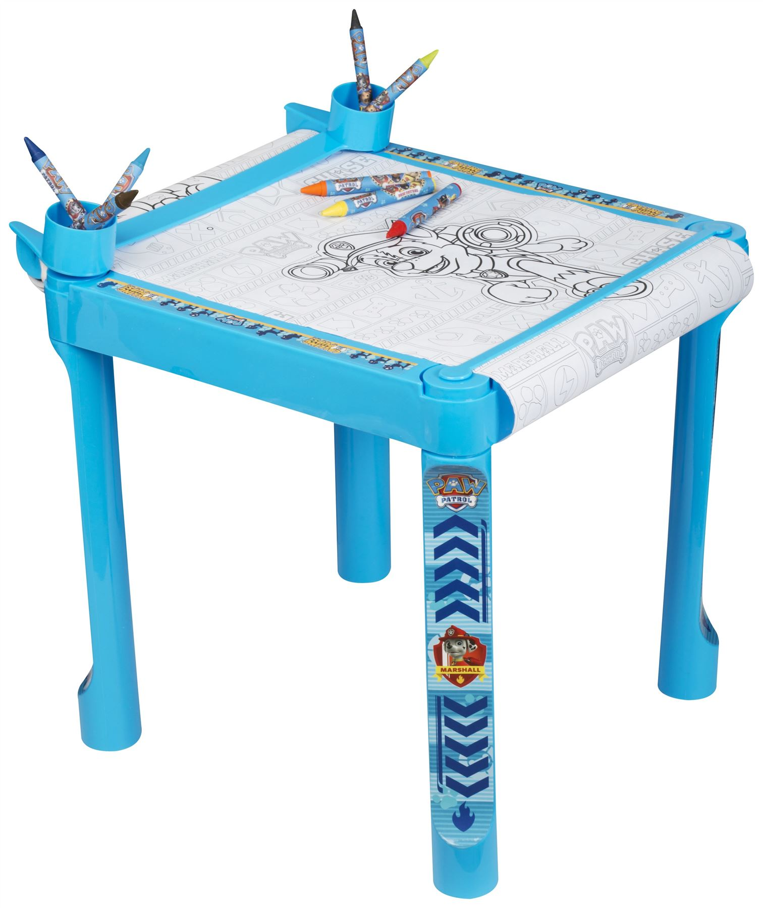 Ni nick jr games and coloring on online - Paw Patrol Colouring Table Jumbo Crayons Markers Paper Roll Nick Jr