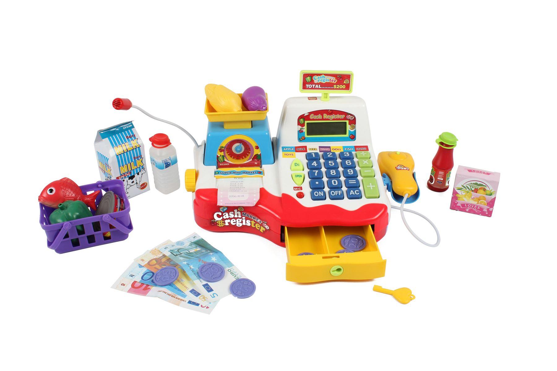 Childrens Kids Supermarket Cash Register Pretend Play Shop Grocery