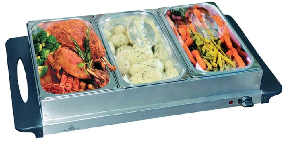 Food Tray Warmer ~ Vinsani stainless steel electric pan buffet server and