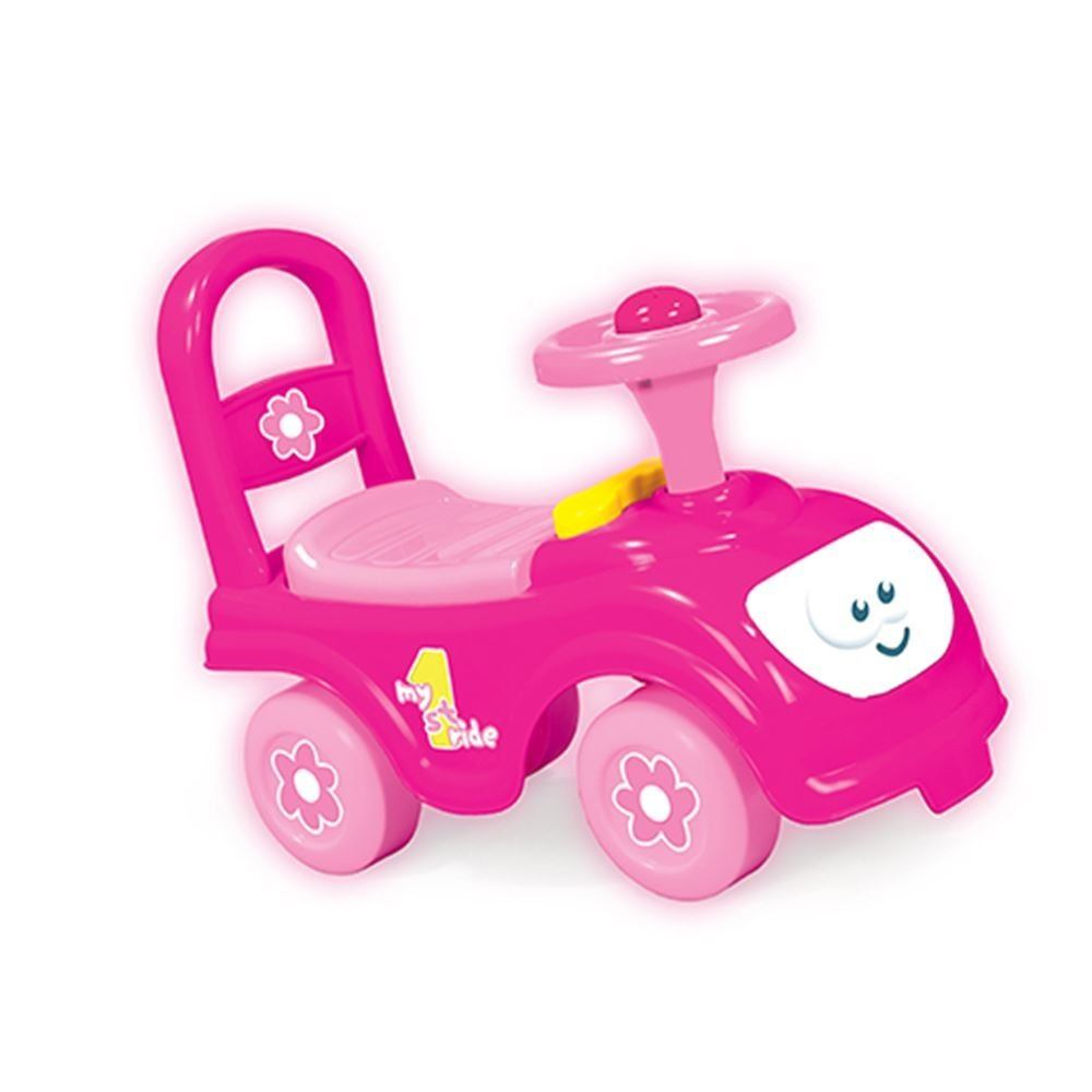 dolu my first ride on kids push along automobile car vehicle pink