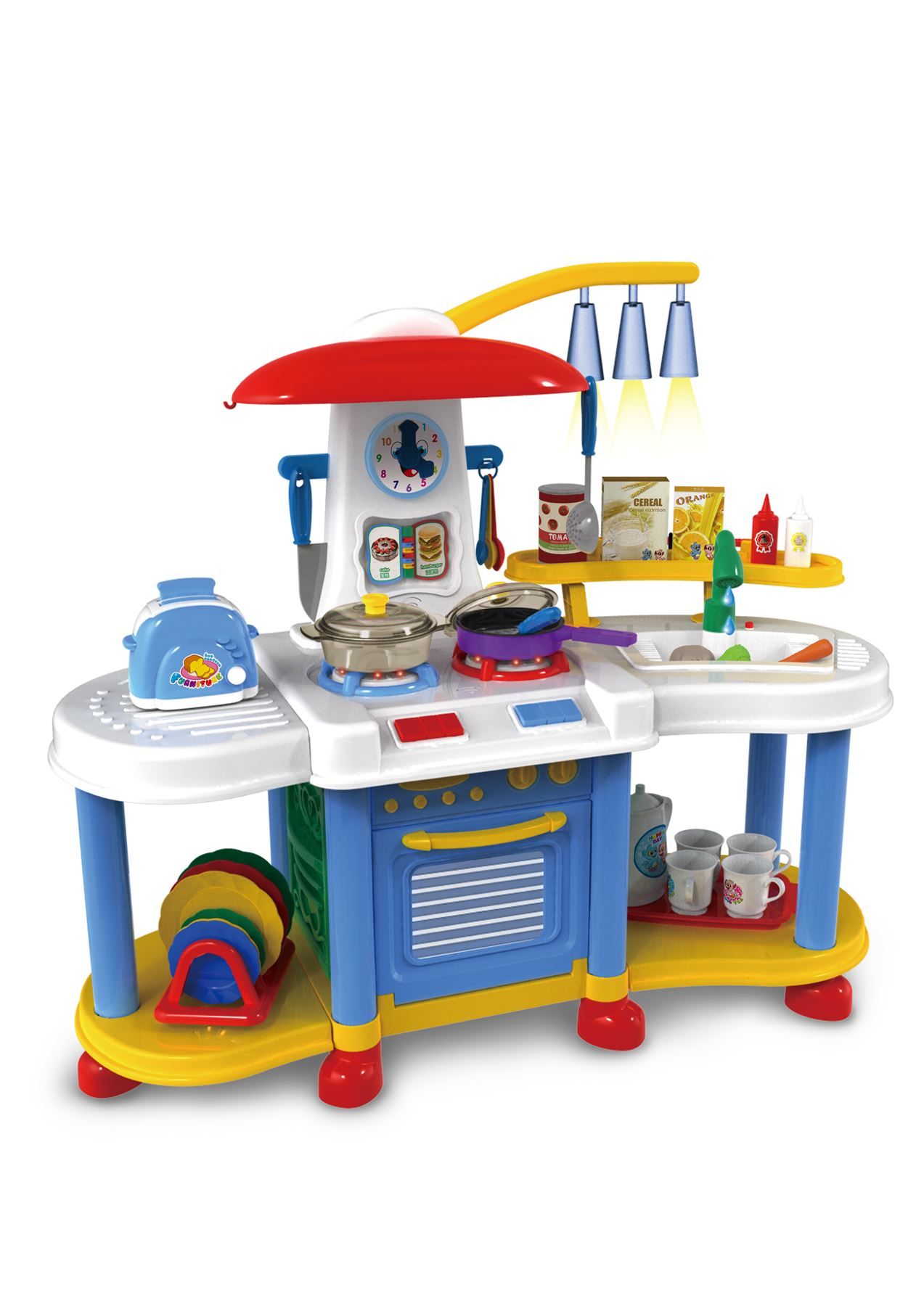 Vinsani Kitchen Food Cooking Appliances Kids Craft Pretend Play ...