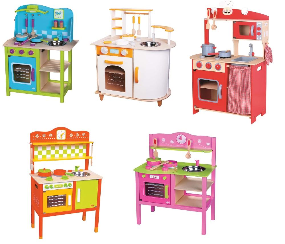 LELIN-WOODEN-WOOD-CHILDRENS-KIDS-PRETEND-PLAY-SAFFRON-KITCHEN-COOKING-OVEN-TOY thumbnail 9