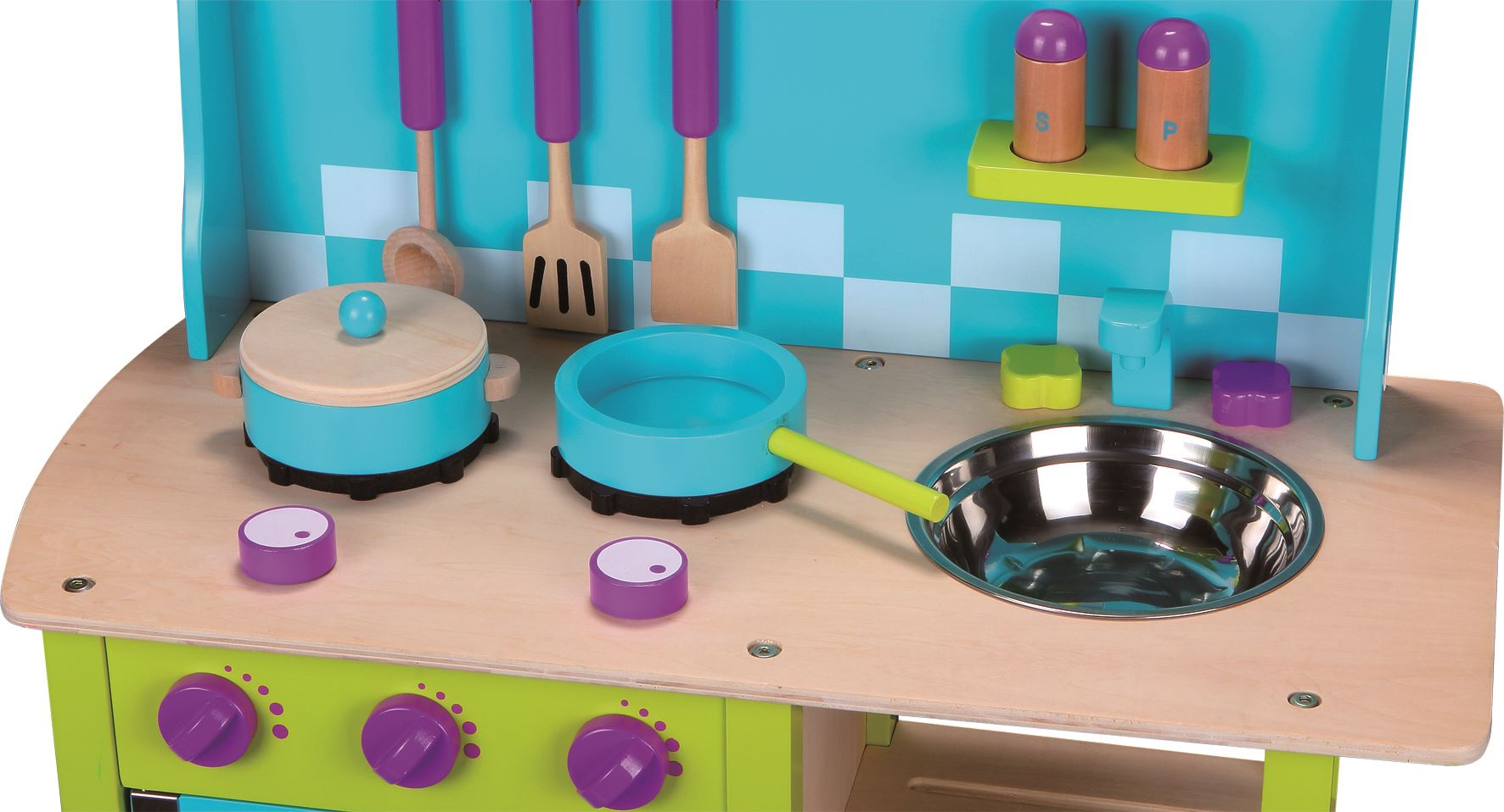 LELIN-WOODEN-WOOD-CHILDRENS-KIDS-PRETEND-PLAY-SAFFRON-KITCHEN-COOKING-OVEN-TOY thumbnail 4