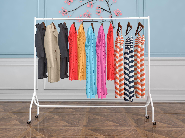 Vinsani Garment Heavy Duty Rail Clothes Hanging Display