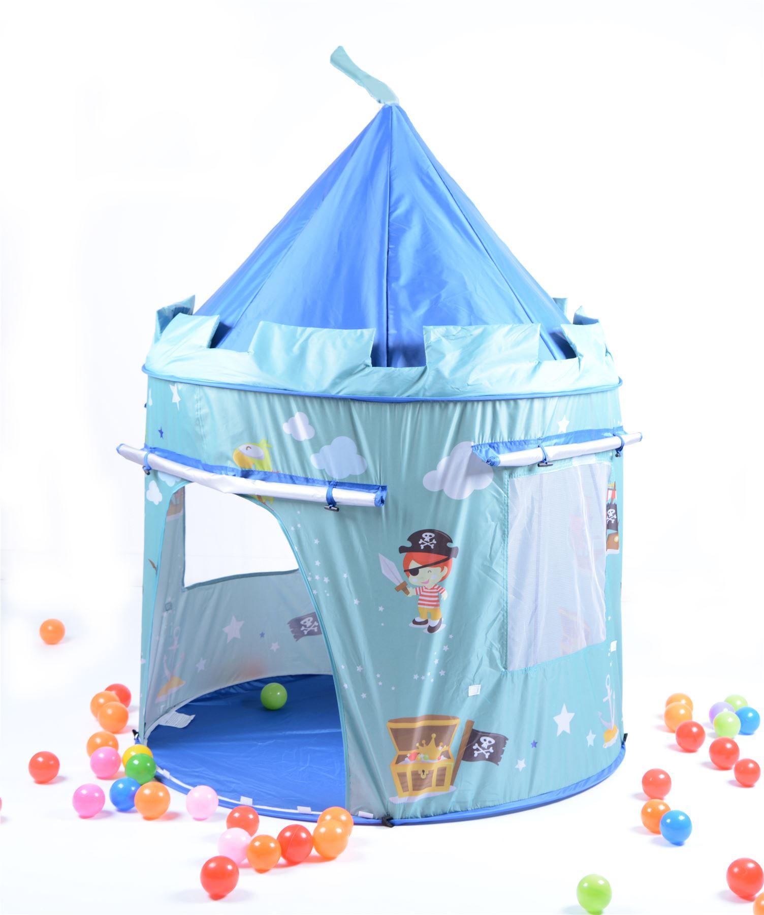 pirate children kids blue indoor outdoor pop up play tent fun playhouse ebay. Black Bedroom Furniture Sets. Home Design Ideas