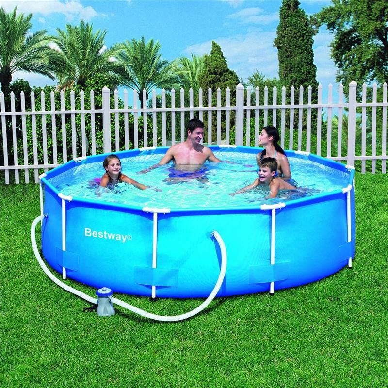 10ft 12ft Steel Frame Family Childrens Outdoor Garden Swimming Paddling Pool Ebay