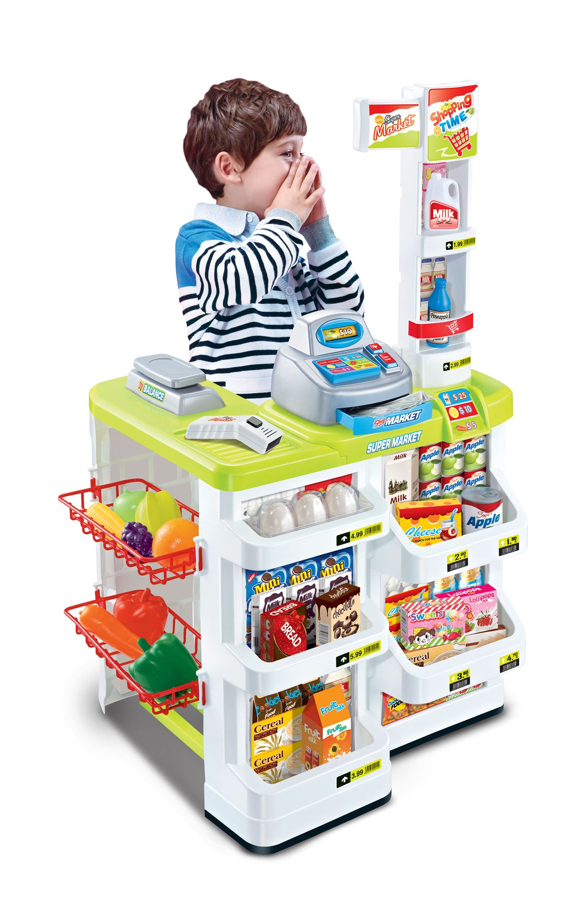 Vinsani Children Kids Supermarket Superstore Toys Light & Sound
