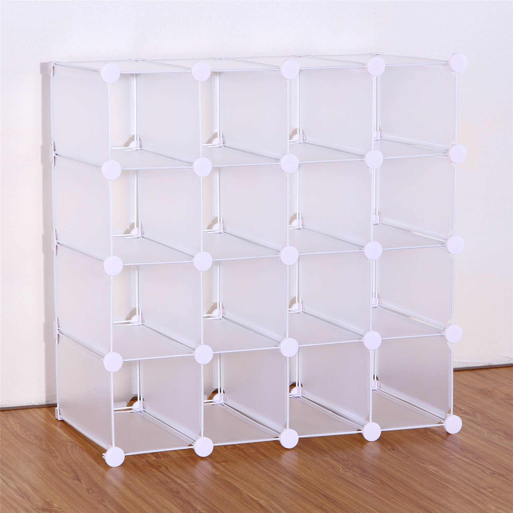 Exhibition Stand Organizer : Vinsani interlocking pairs cube shoe organizer rack