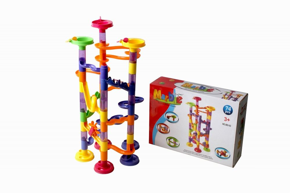 Marble Game Blocks : Marble run race construction childrens kids building