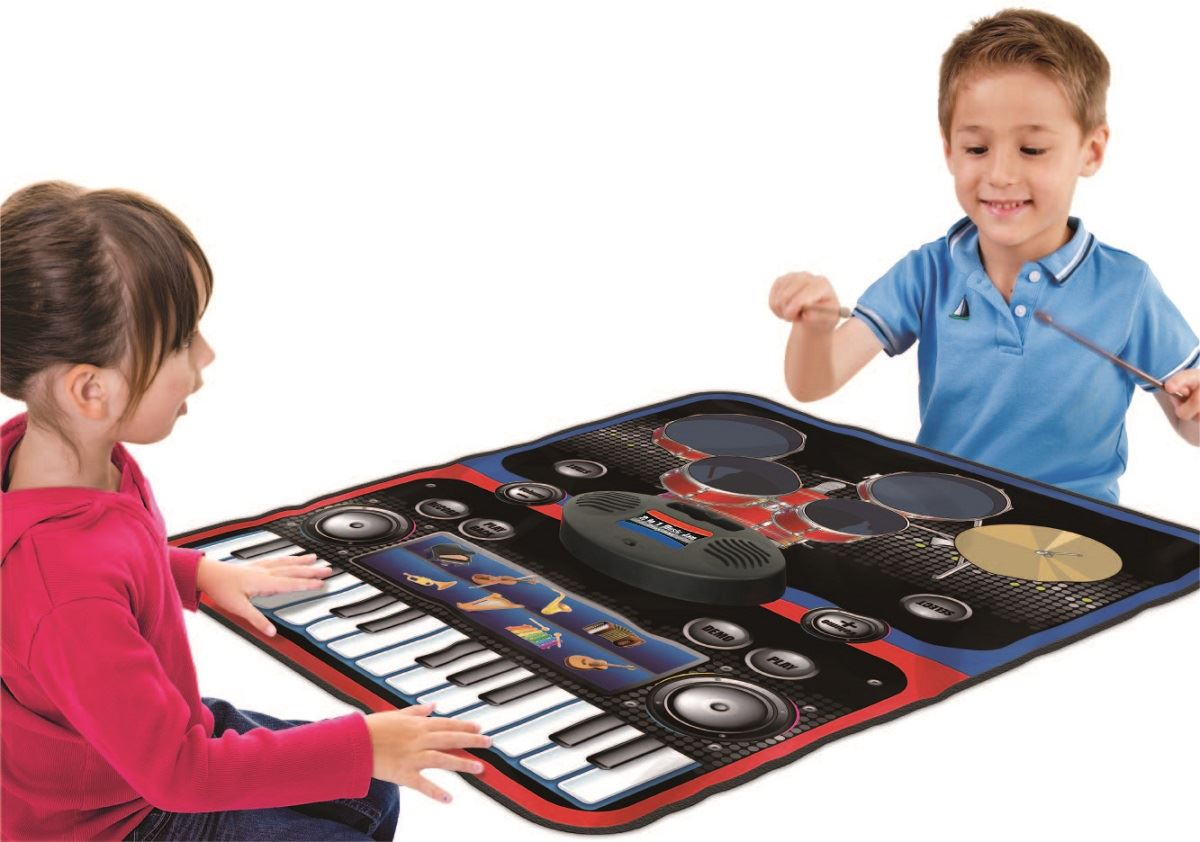 vinsani children kids musical instrument piano keyboard dj set playing mat ebay. Black Bedroom Furniture Sets. Home Design Ideas