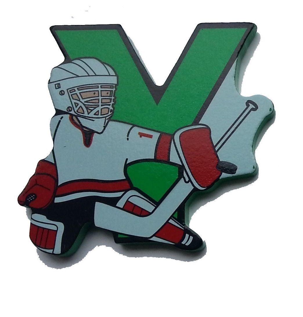 Vinsani Wooden Hockey Upper Case Alphabet Letters