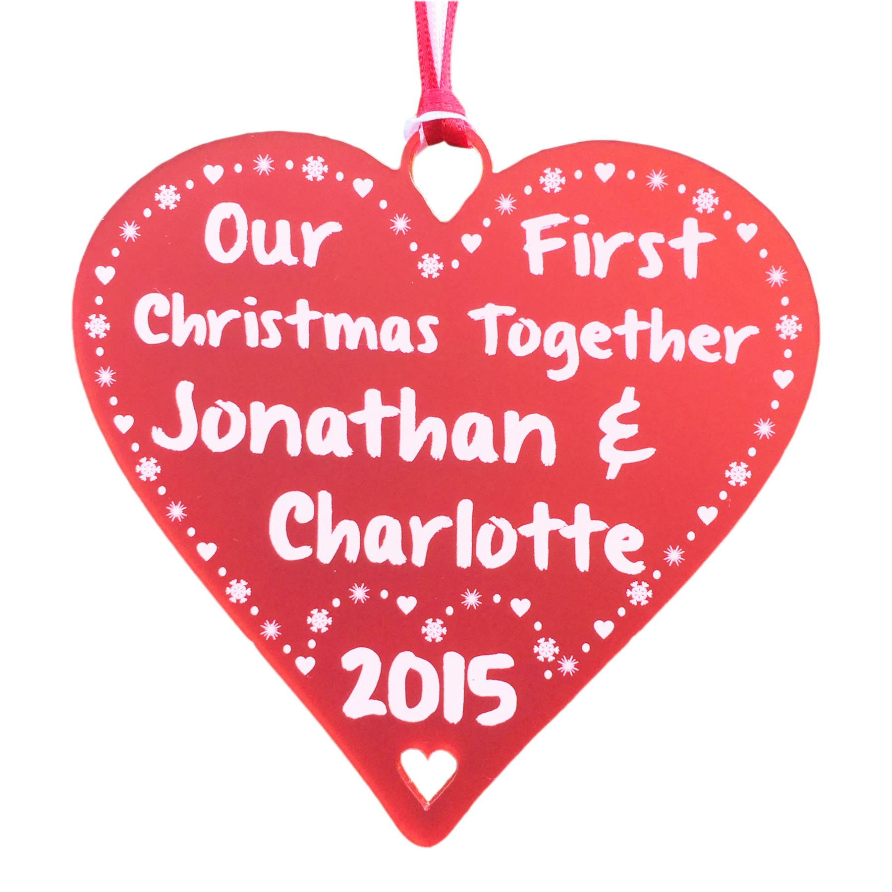 Couples First Christmas Together Personalised 1st Gift for ...