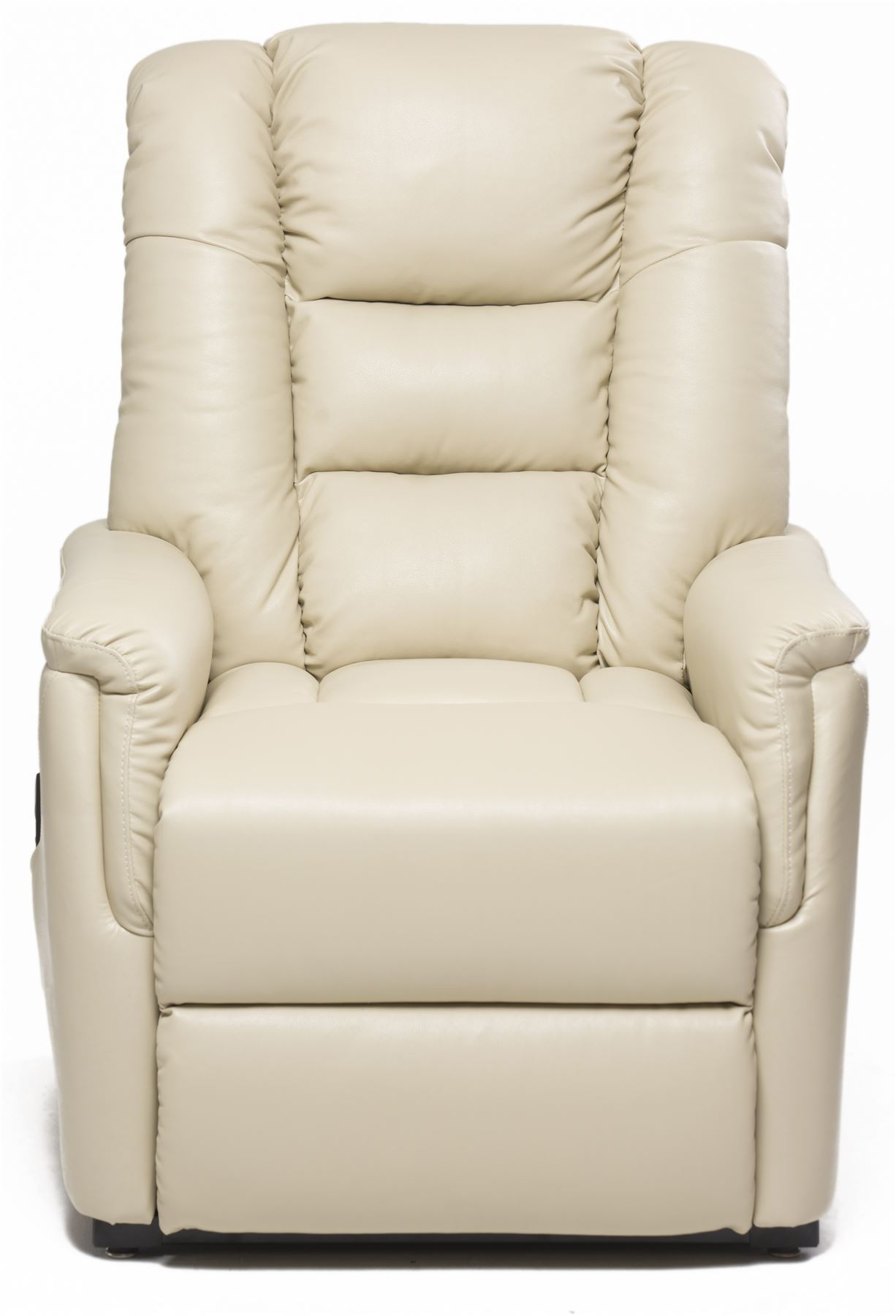 Details about Bradfield Cream Single Motor Riser Recliner Chair In Faux Leather Rise & Recline