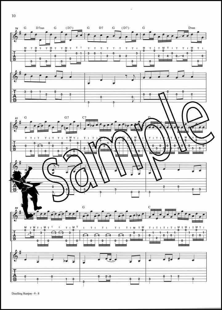 duelling banjos banjo tab guitar tab music booklet sheet music deliverance 9780739073087 ebay. Black Bedroom Furniture Sets. Home Design Ideas