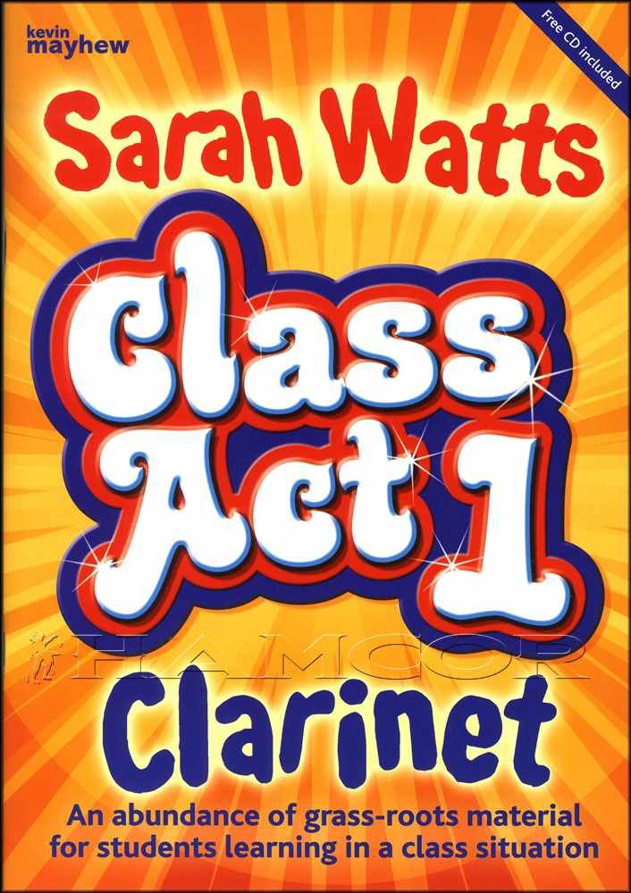 Class Act 1 Clarinet Music Book//CD Method Sarah Watts Student SAME DAY DISPATCH