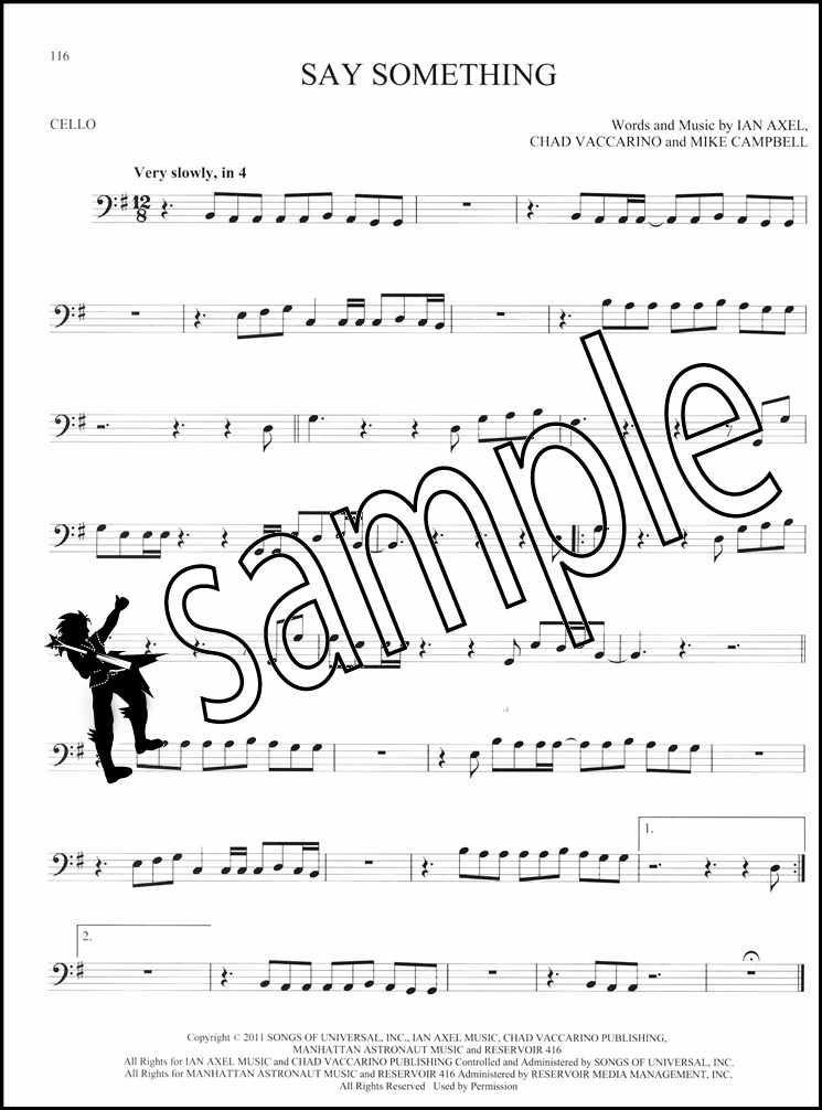 101 Popular Songs for Cello Sheet Music Book Michael Jackson Billy Joel Beatles