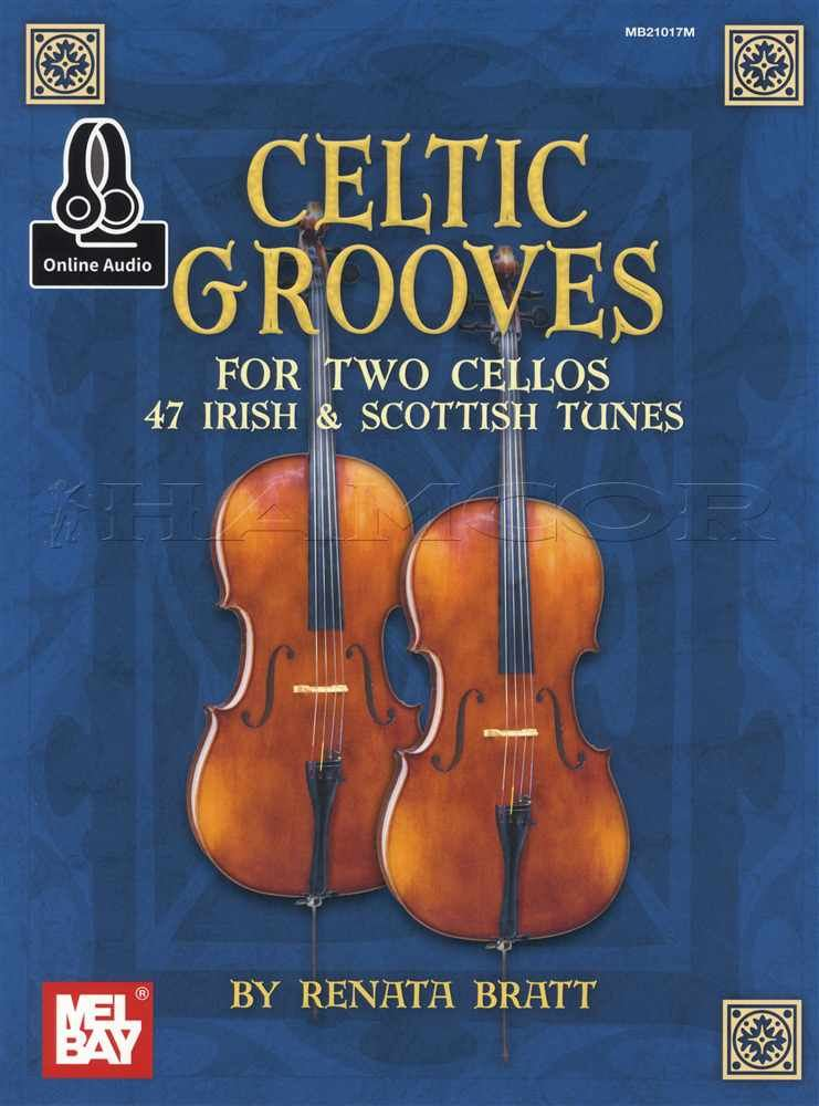 Celtic Grooves for Two Cellos Sheet Music Book with CD Cello Duet Irish Scottish